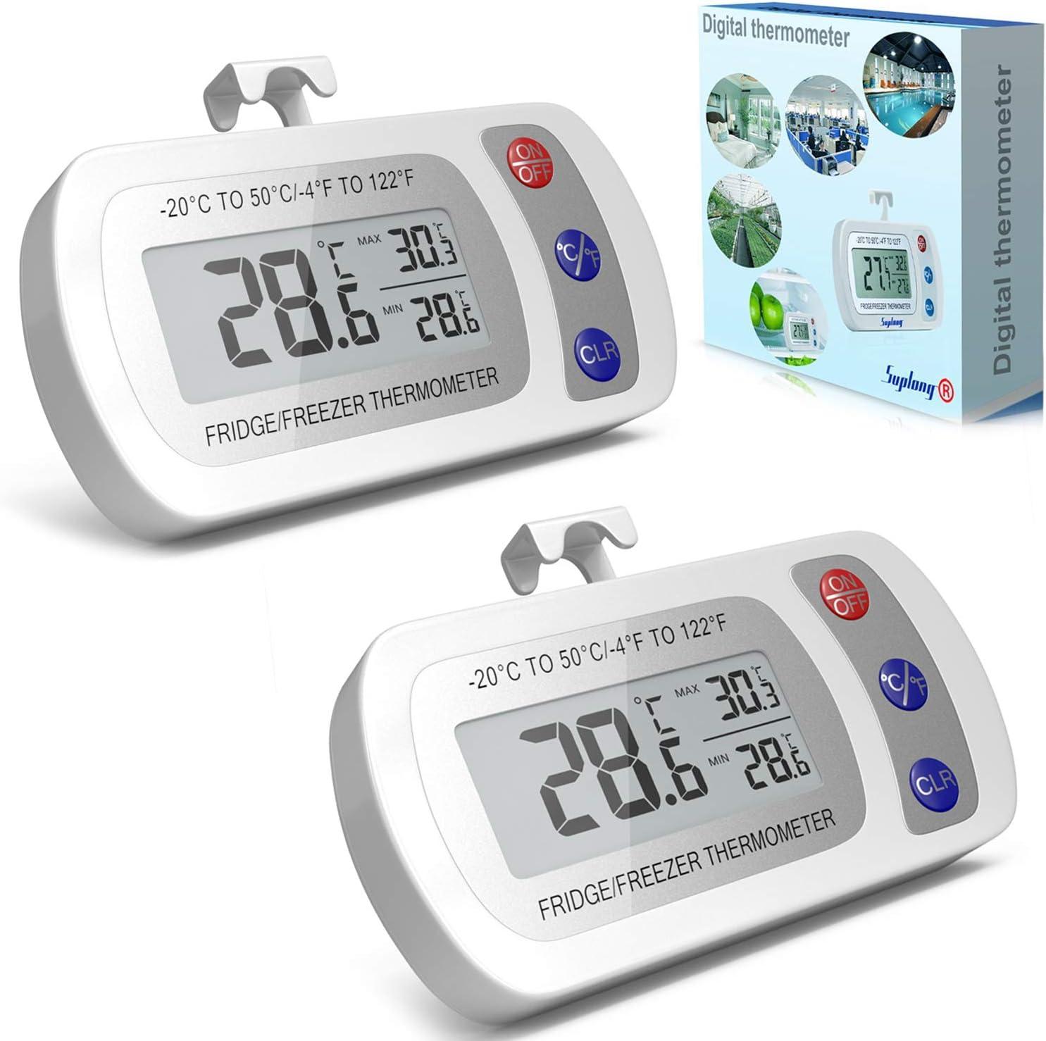 versión actualizada] 2 unidades Termómetro Digital para ...