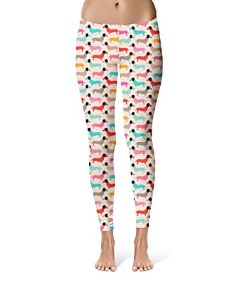 85502bed67c12 Queen of Cases Doxie Dachshund Dogs Sport Leggings - Full Length, Mid/High  Waist