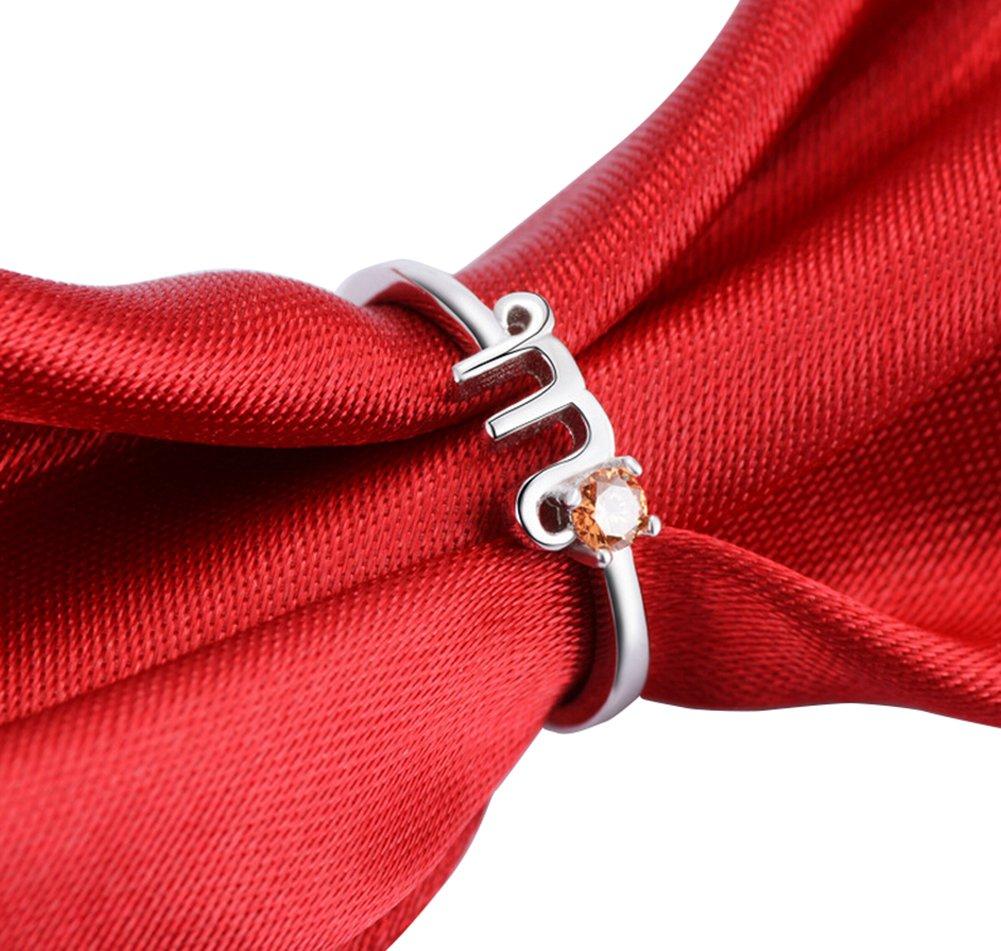 Treestar 1PCS elegante Scorpio Lady anelli argento lucido Art Female wedding Jewelry Girl decora Gift anello