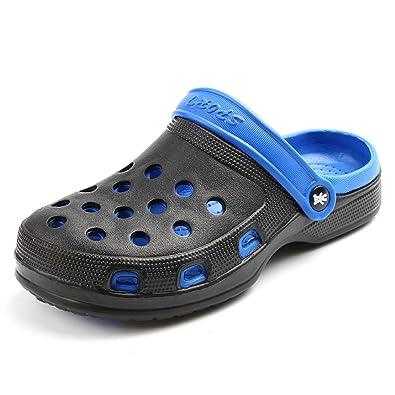 kurop mens garden beach shoes outdoor non slip double color summer sports eva clogs sandal slippers - Mens Garden Shoes