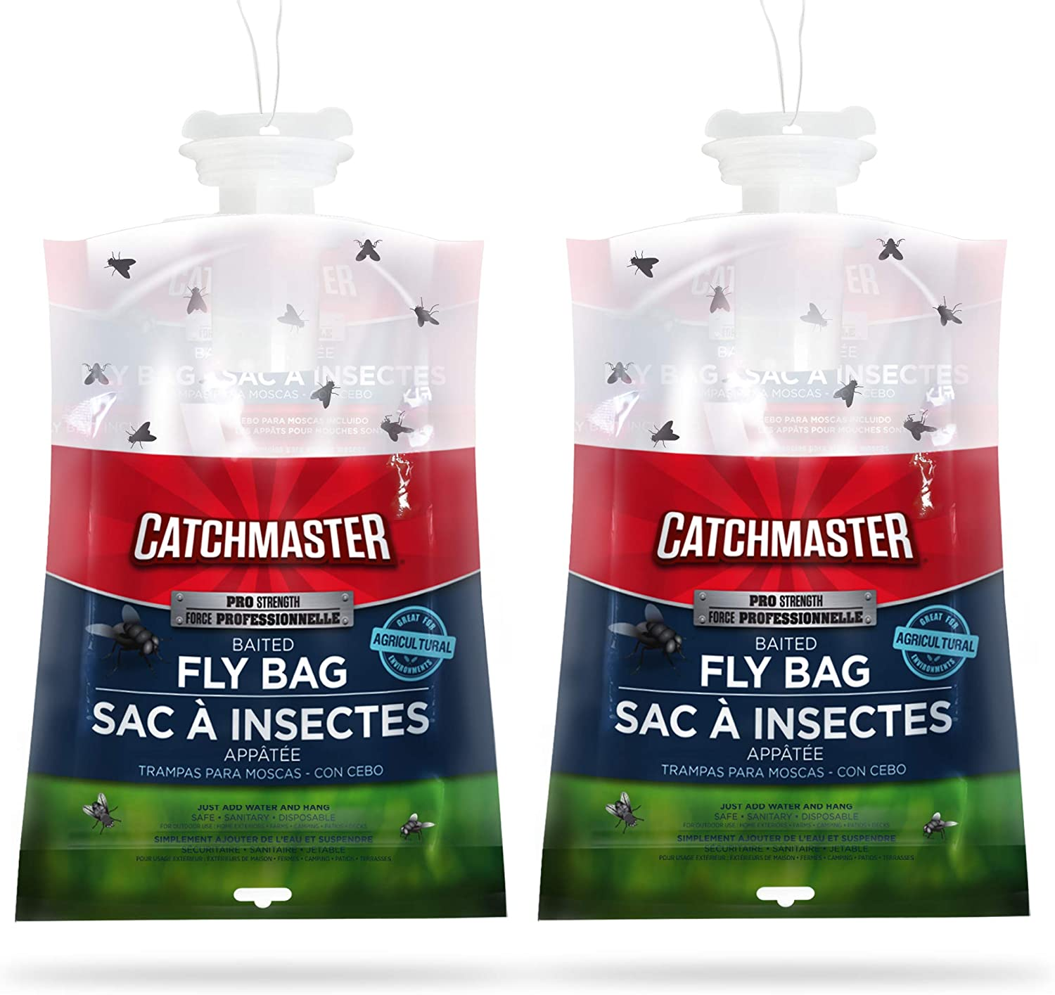 Catchmaster X-Large Outdoor Disposable Fly Bag Trap - Pack of 2 Fly Bags 714ecLmFxkL