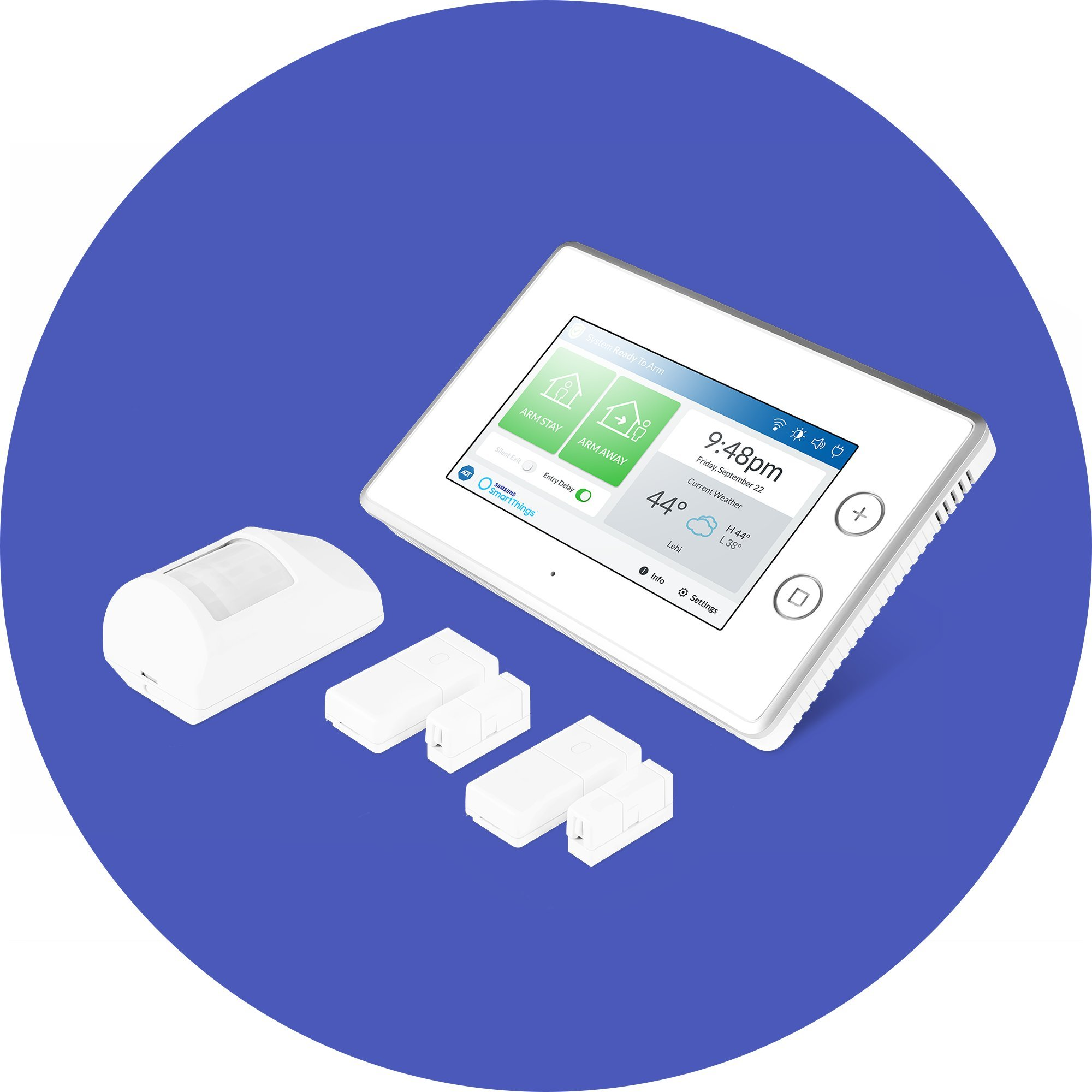 Samsung SmartThings ADT Wireless Home Security Starter Kit ...