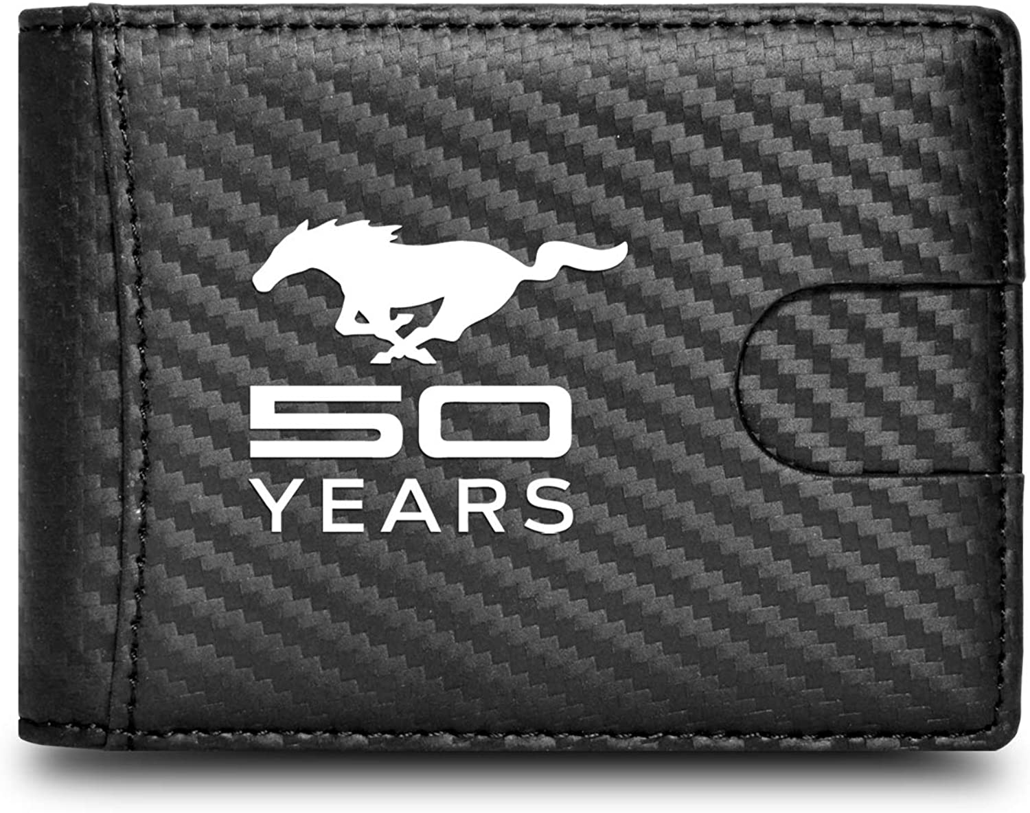 Ford Mustang 50 Years Real Carbon Fiber Key Organizer Holder Key Chain