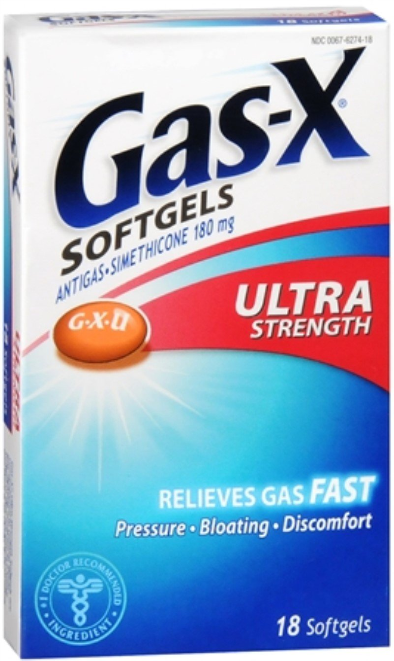 Gas-X Softgels Ultra Strength 18 Soft Gels (Pack of 4)