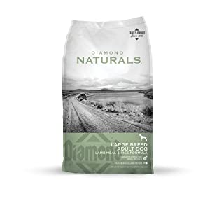 Premium Dry Dog Food from Diamond Naturals for Adult Large Breed (Meat Recipe with Real Cage Free Chicken)