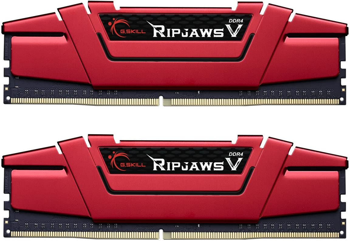 G.Skill 32GB (2 x 16GB) Ripjaws V Series DDR4 PC4-19200 2400MHz Intel Z170 Desktop Memory Model F4-2400C15D-32GVR