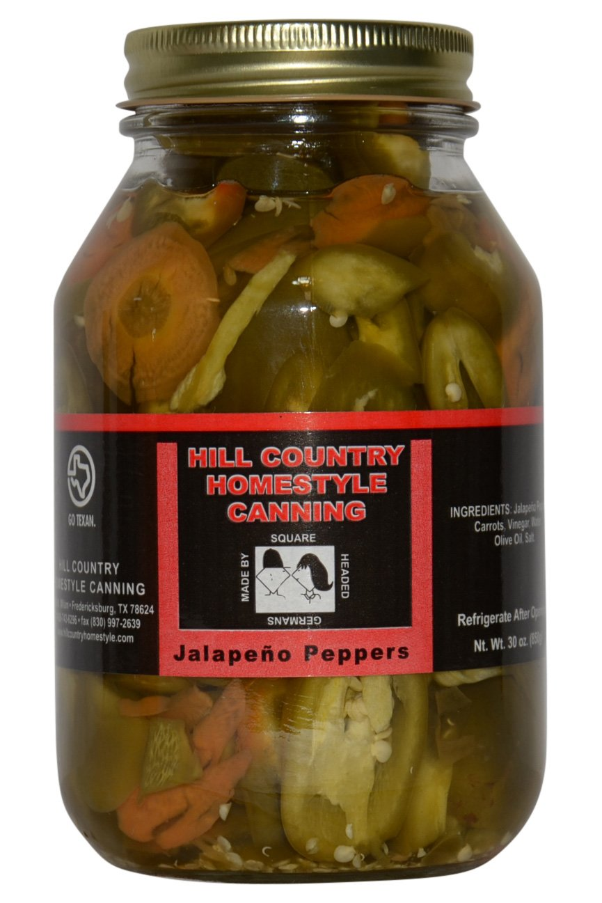 Texas Hill Country Pickled Jalapeno Peppers 32oz