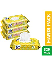 Lysol Handi-pack Disinfecting Wipes, 320ct (4x80ct), Lemon & Lime 320 Count