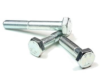 DIN 931 8.8 M7 x 40 verzinkt 10 Stk Sechskantschraube mit Schaft