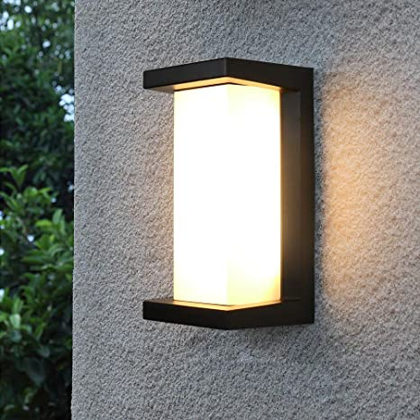 Amazon Com Shinbeam Outdoor Wall Porch Lights Led Wall Sconces Ip65 Waterproof Lighting Fixture 3 Color Changeable Wall Fixture Warm White Cold White And Nature White Color Black Home Improvement