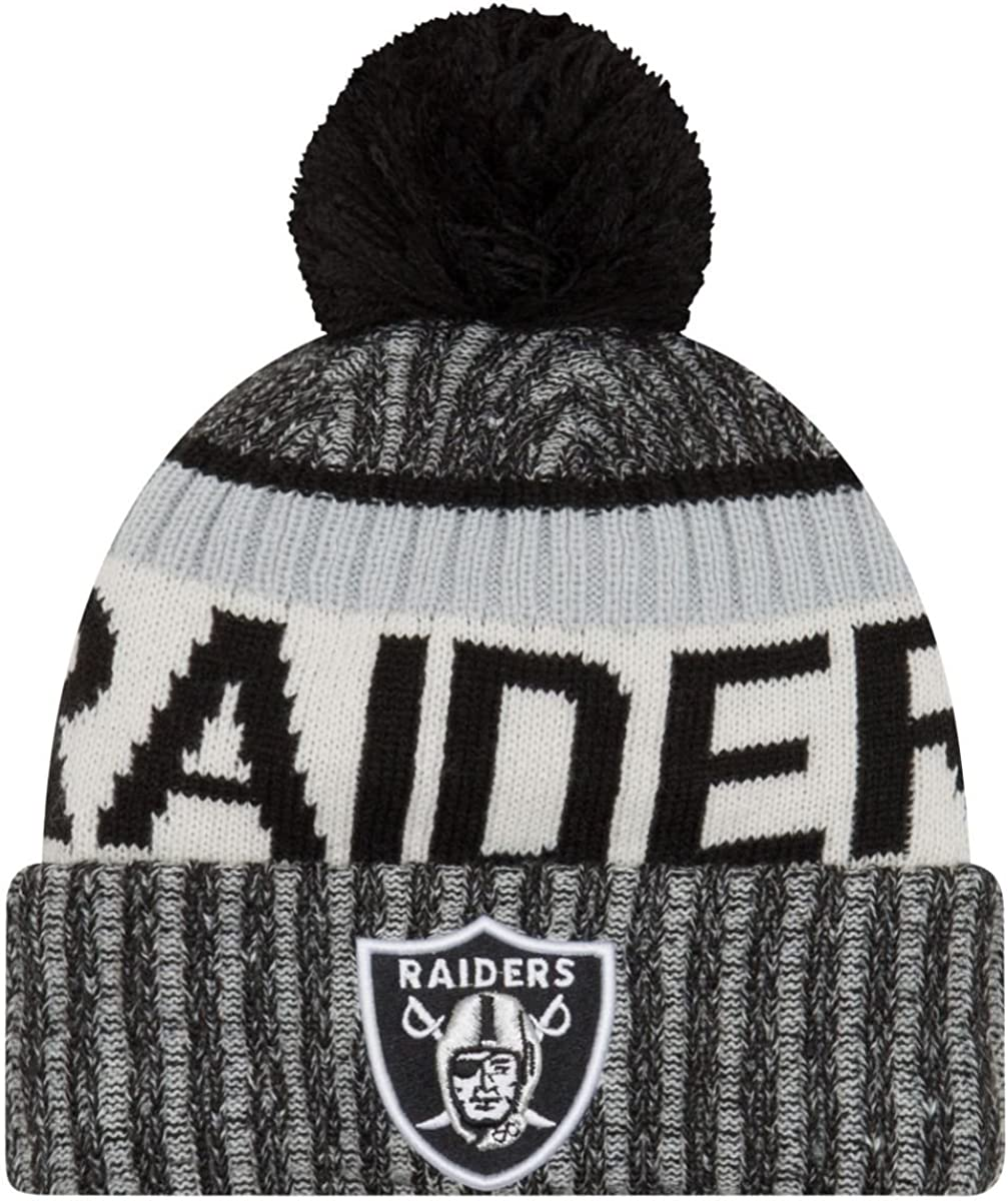 New Era NFL Sideline Bobble Knit Oakland Raiders Gorro, Hombre ...