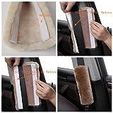 2pcs Auto Genuine Sheepskin Seat Belt Covers