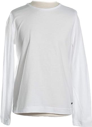 MPL Camiseta Niño Manga Larga Camiseta Básica de Punto Liso ...