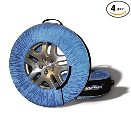9af15e3a1494 Amazon.com  MICHELIN Black Blue 80 Tire Covers   Tire Bags-Pack of 4 ...