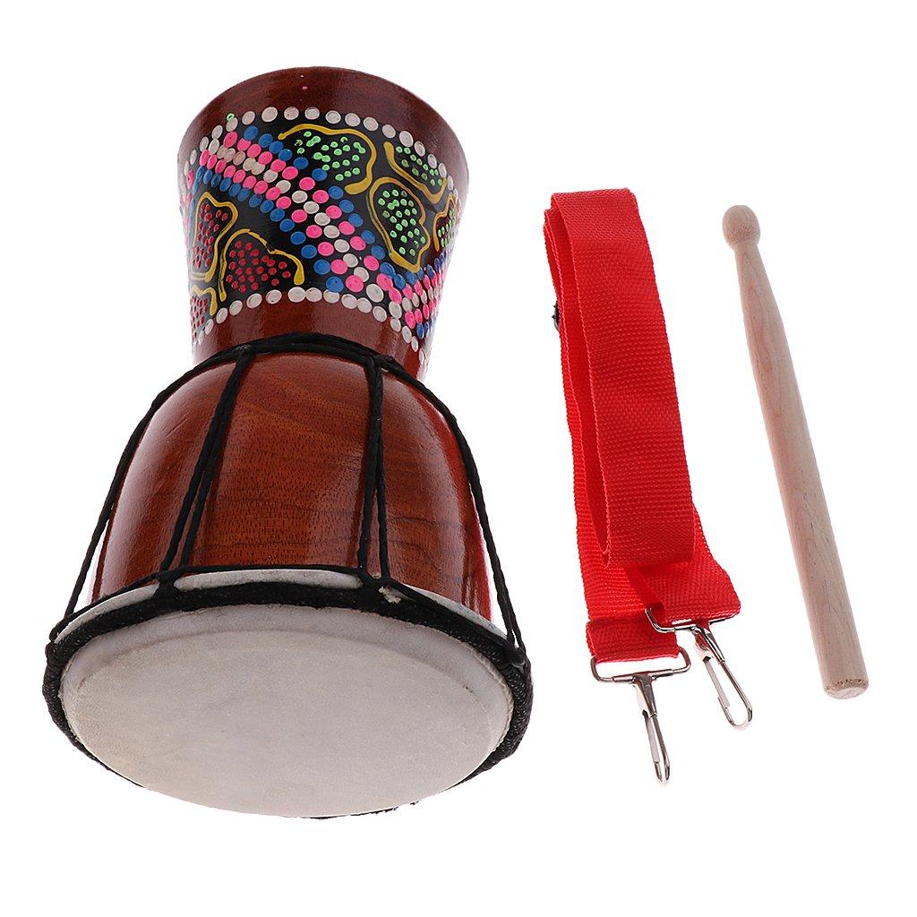 MagiDeal 4 inch Djembe Darbuka African Bongo Hand Drum Dance Drum for Musical Lovers 11.81 x 4.53inch