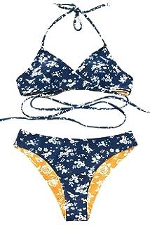 c87e749787e39 Amazon.com: CUPSHE Women's Push Up Halter Bikini Set: Clothing