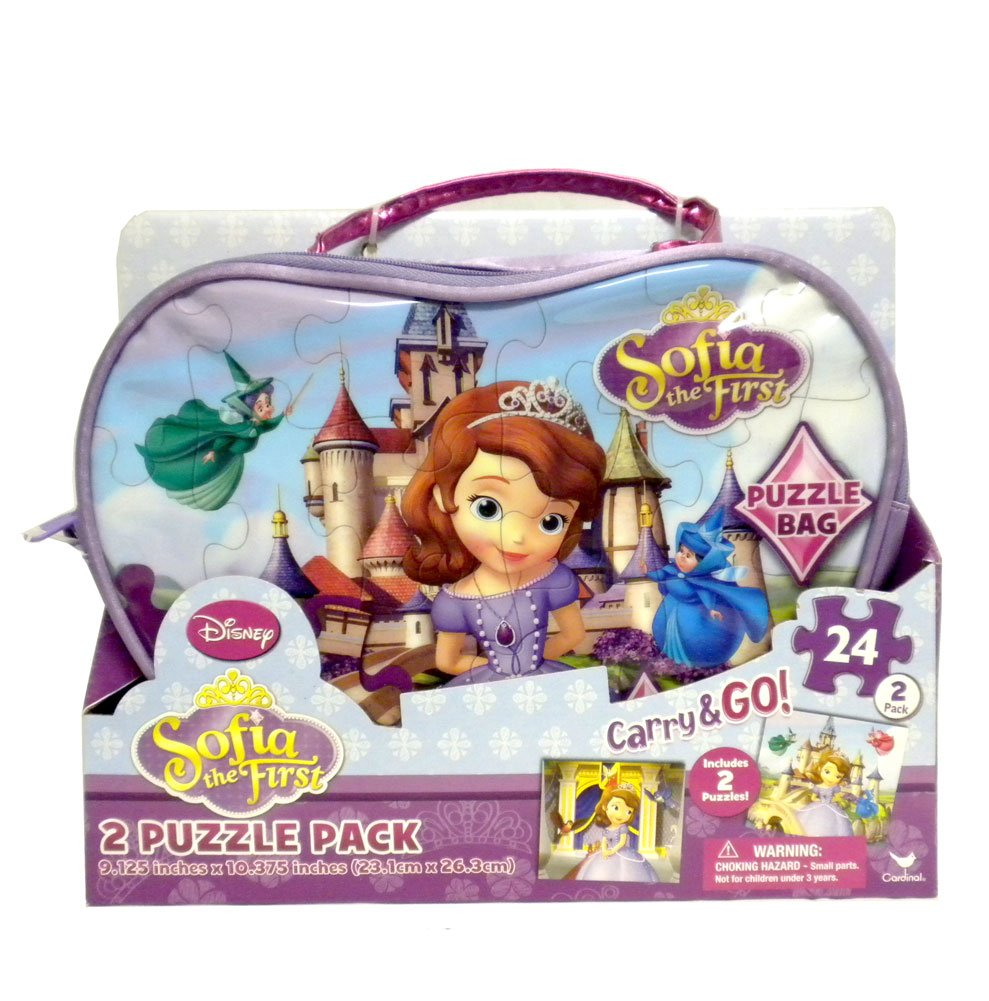 Disney Princess Sofia the First Carry and Go Bag with 2 Puzzles