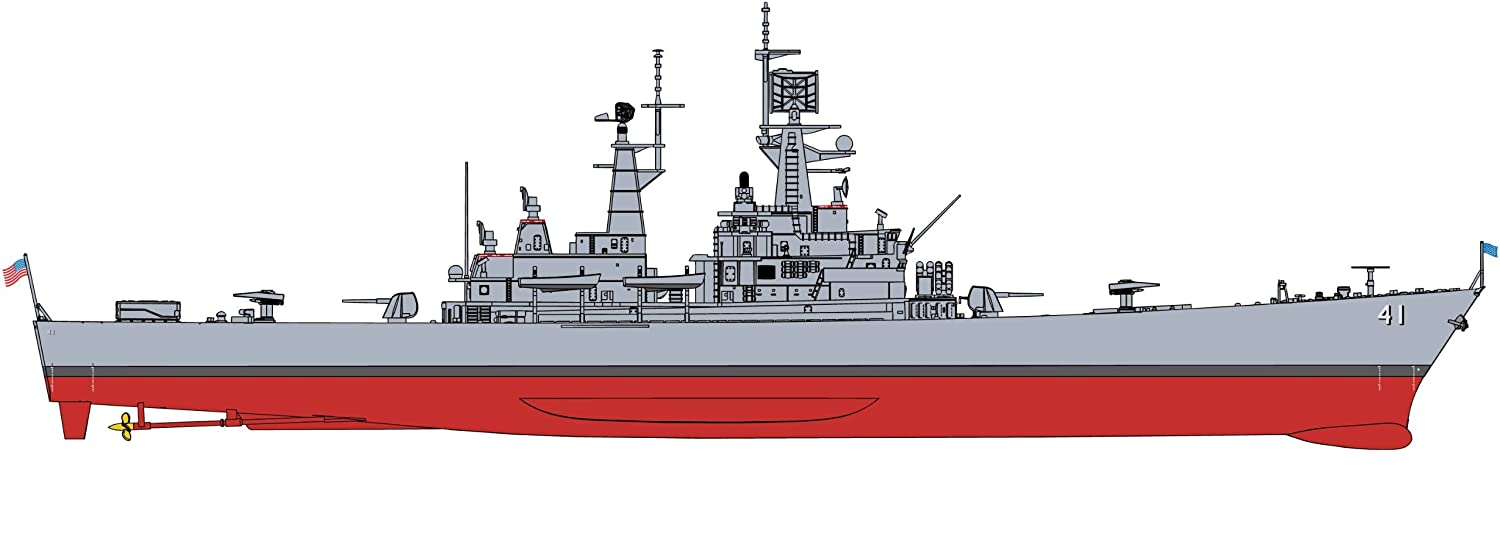 Dragon/CyberHobby 1:700 Scale USS Arkansas CGN-41 Model Kit CHC-7124