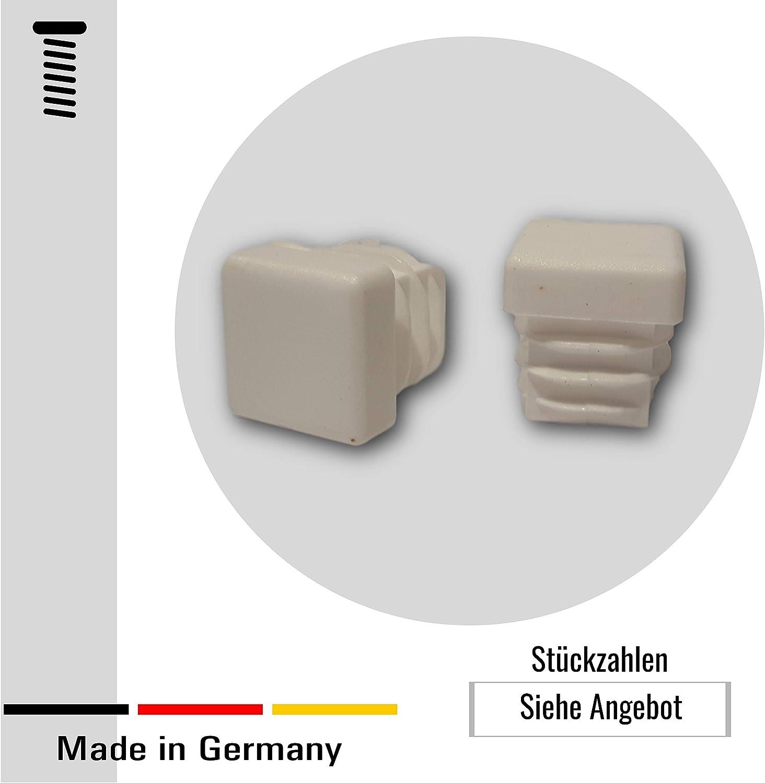 blanco para tubos cuadrados dimensiones exteriores 15x15 mm 20 tapas