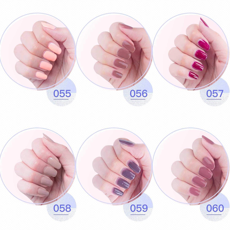 Y&S Esmalte de gel soak off, secado en lámpara UV o de led, manicura, kit básico, 6 frascos de colores, 10 ml cada uno: Amazon.es: Belleza