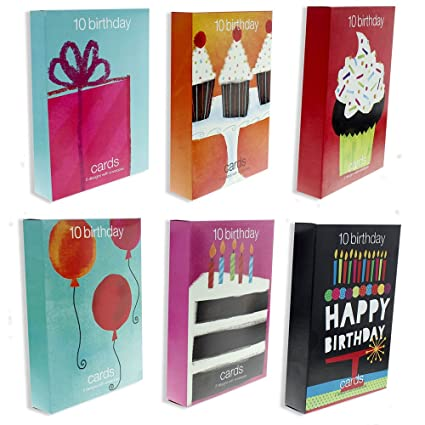 Bright And Colorful Birthday Cards Assorted Designs