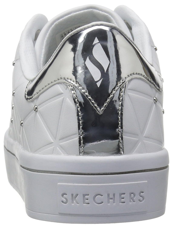 Skechers Street Women's Hi-Lite-Bermuda Sneaker B071G6TGF7 11 B(M) US|White/Silver