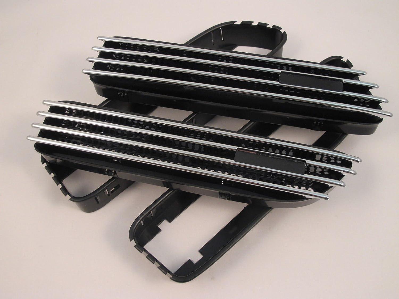 (2) de repuesto cromado/negro aberturas laterales de rejilla de parrilla Fender para E46 2001 –  2006 CarLab