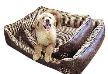 VLUNT Cama para Mascota Grandes Desenfundable Cama de Perro Tela Impermeable Cama para Mascota: Amazon.es: Productos para mascotas