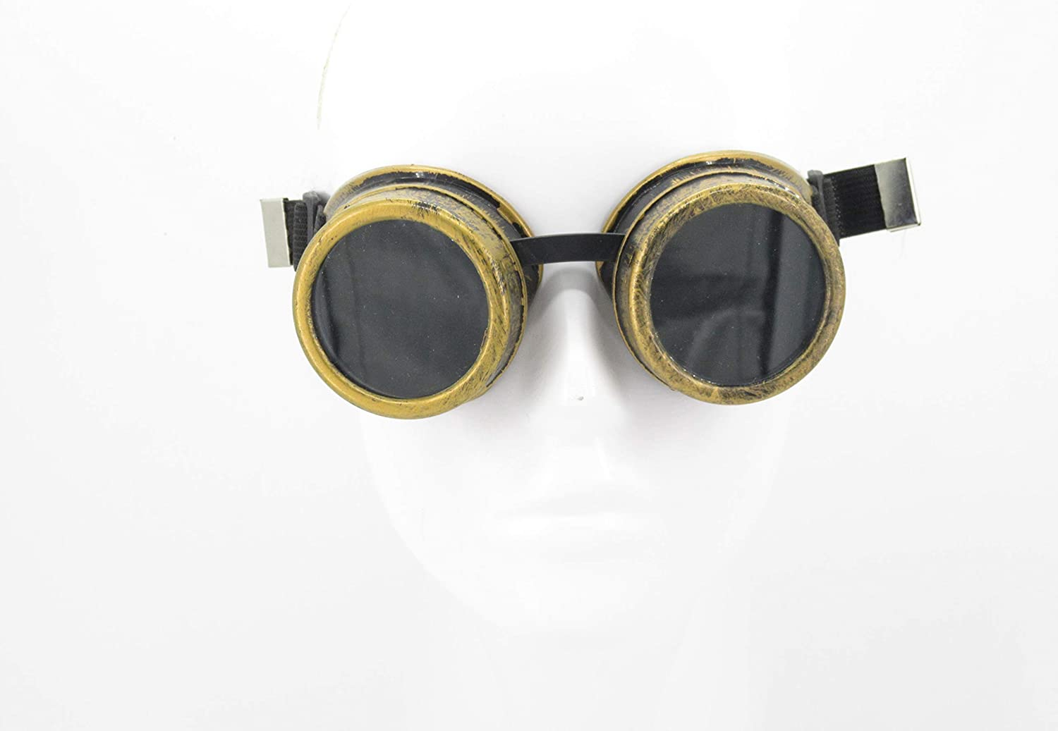 Yarizm Steampunk Goggles Rustic Copper Vintage Goggle Cyber Welding Goth Cosplay Glasses Old Copper