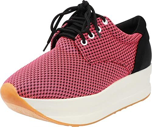 4d33897f98387 Cambridge Select Women's Lace-up 90s Ugly Dad Chunky Platform Flatform  Fashion Sneaker