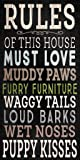 Fan Creations Pet Dog Wood Sign - Rules of This