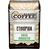 Green Unroasted Coffee, 5 Lb. Bag, Fresh Roasted Coffee LLC. (Ethiopian Yirgacheffe Kochere)