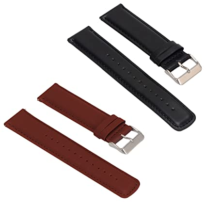 Amazon.com : ECSEM 2pcs Replacement Leather Bands Straps for ...