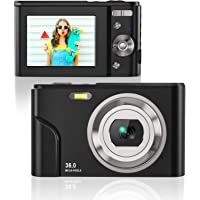 Rosdeca HD 36MP Digital Camera for Photography with 16X Zoom, Digital Video Camera with 2.4 Inch IPS LCD Display, Point…