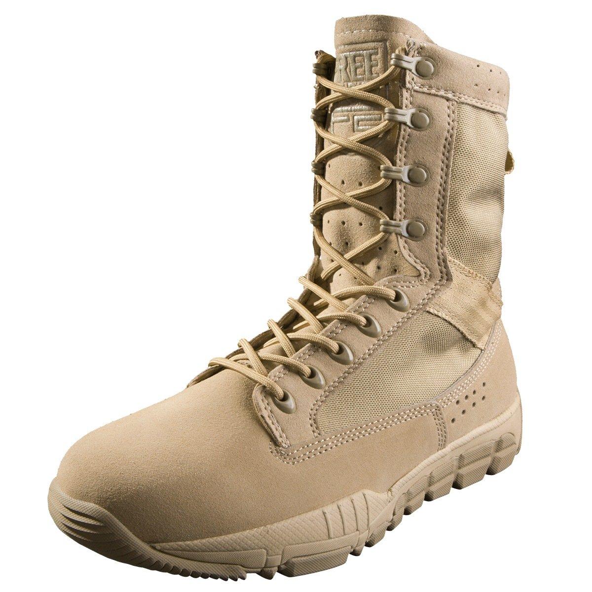 Free Soldier Mens Military Boots 8インチDeeply鋸歯状つま先とヒールバンパーデザートタンタクティカルブーツ B073CWF7GS 12 D(M) US|タン タン 12 D(M) US