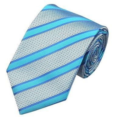 Jason&Vogue - Corbata - Rayas - para hombre azul azul celeste ...