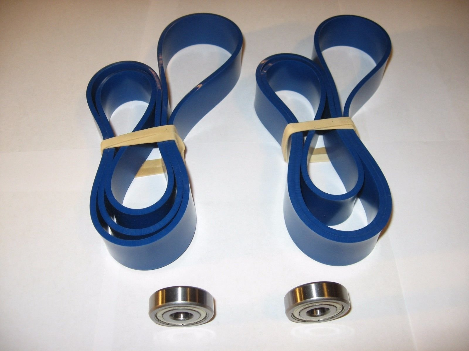 POWERMATIC PWBS-14 BLUE MAX URETHANE BAND SAW TIRES AND 2 THRUST BEARINGS.