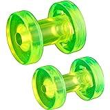oreille elargisseur flesh plug tunnel écarteur 3mm 4mm bijouterie piercing acrylique grossiste 2 Paires FQHJ