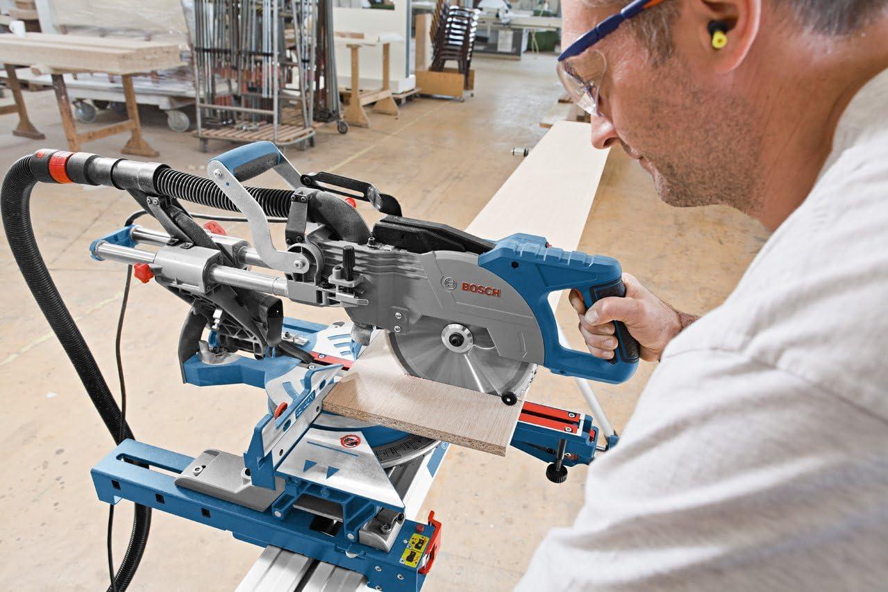 Longueur de la table de travail: 520 mm, poids: 6,3 kg, 602mm Bleu 25,4 cm /& Pied pour scie /à onglet support GTA 2600 Bosch Professional 0601B19100 Scie /à Onglets Radiale GCM 8 SJL