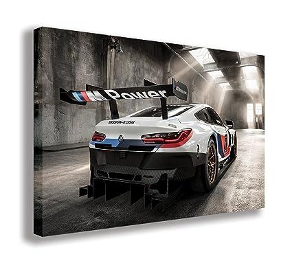 Amazon.com: BMW M8 GTE RACE CAR CANVAS WALL ART (44\