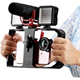 Ulanzi U Rig Pro Video Rig for iPhone, Phone Stabilizer Rig w Triple Cold Shoe Mount,Phone Tripod Mount for iPhone 11 Pro Max