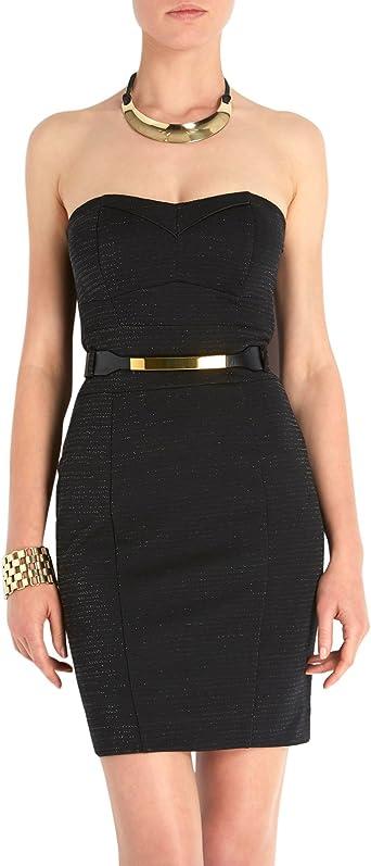 Morgan Robe Bustier Uni Sans Manche Femme Noir Fr 42 Taille Fabricant L Amazon Fr Vetements Et Accessoires