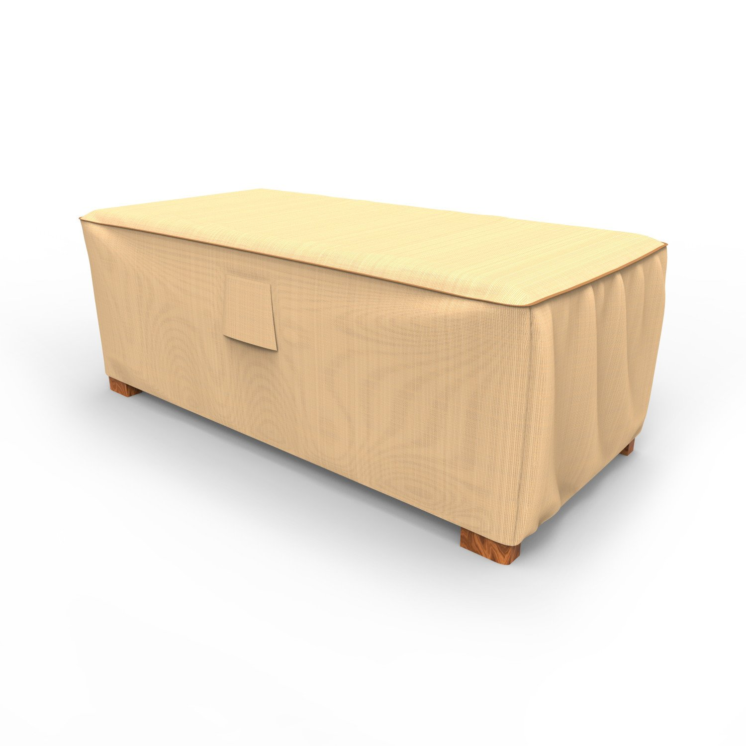Budge P4A03TNNW1 Slim Patio Ottoman Cover Rust-Oleum Neverwet Furniture, 25'' x 18'' W x 42'' L, Tan