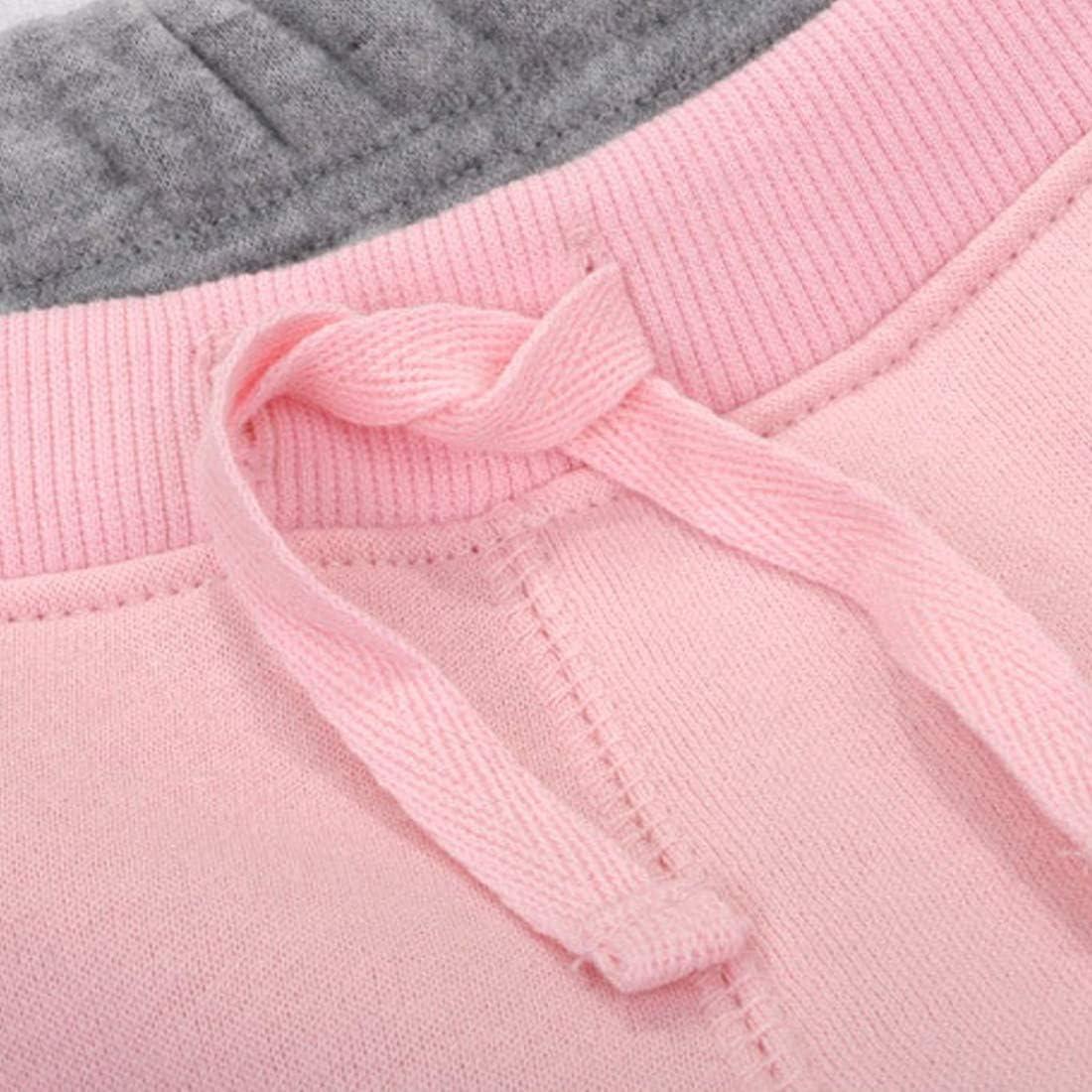 PAUBOLI Baby Fleece Pants Boys Girls Fleece Lined Sweatpants Jogger Pants