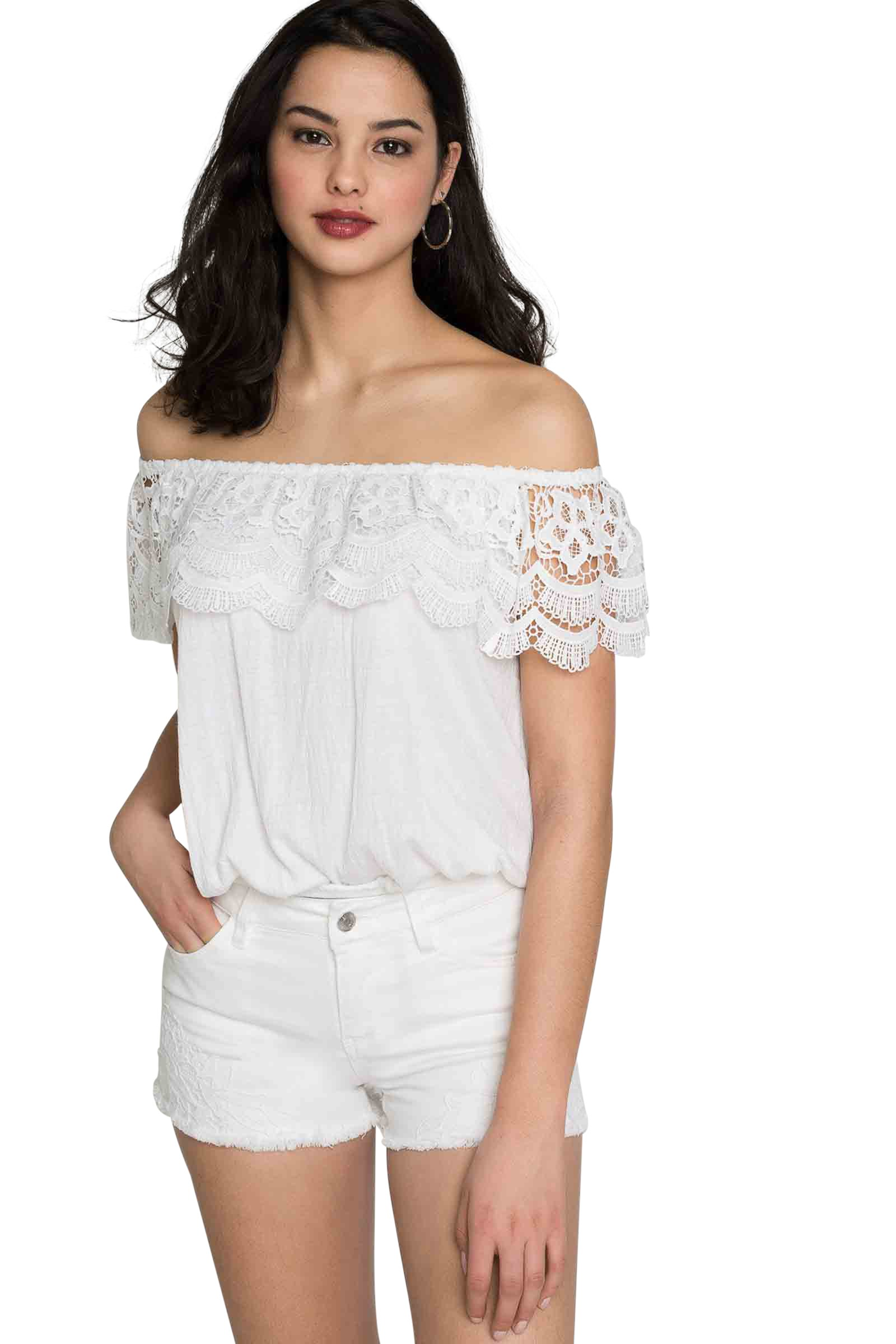 63d8bde868db9 Ardene - Women s - Shirts   Blouses - Lace Off Shoulder Top Large  -(8A-AP03878)