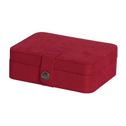 Amazoncom Mele Co Giana Plush Fabric Jewelry Box with Lift Out
