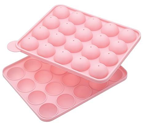 Sweetly Does It Kitchencraft Molde para Cake Pop, Silicona, Rosa, 19x23.6x4