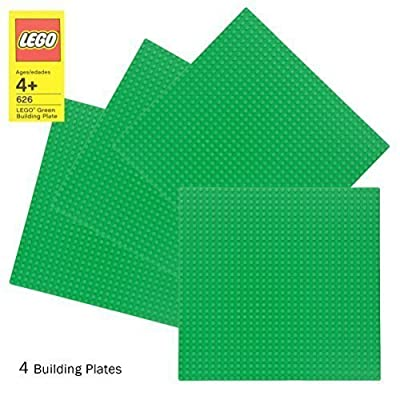 """LEGO Green Baseplate 626 (10"""" x 10"""") Set of 4: Toys & Games"""
