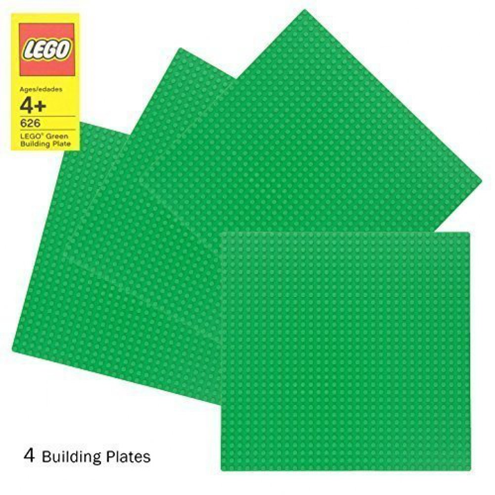 "LEGO Green Baseplate 626 (10"" x 10"") Set of 4"