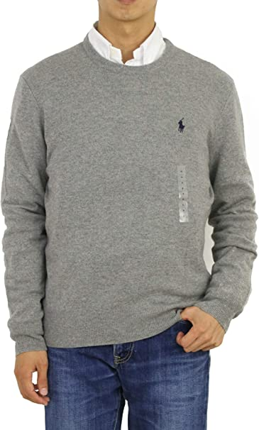 Polo Ralph Lauren Men S O Neck Sweater Fawn Grey M Amazon Ca Clothing Accessories